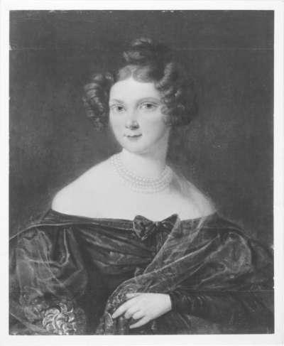 Bildnis einer jungen Dame mit Perlenkette