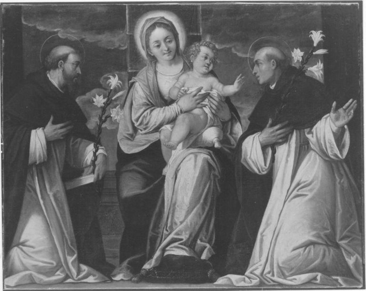 Maria mit Kind und zwei Heiligen