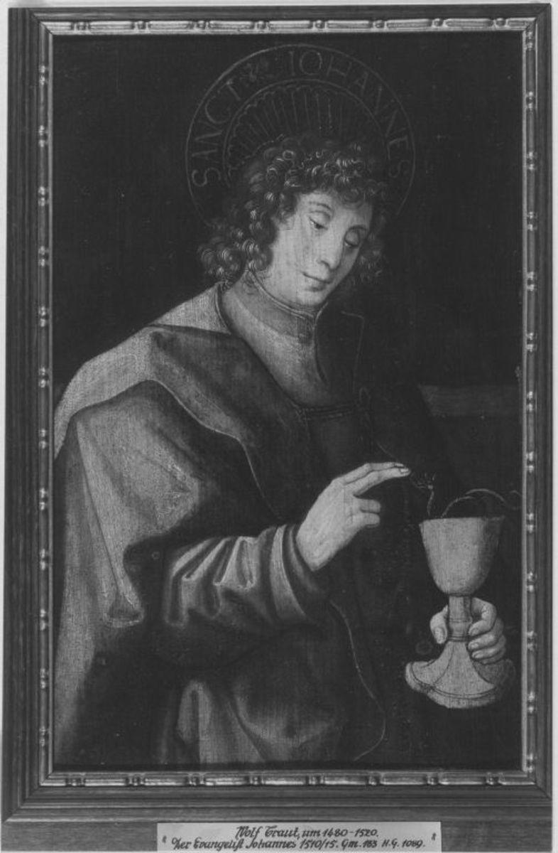Fügel einer Altar-Predella: Hl. Johannes Ev.