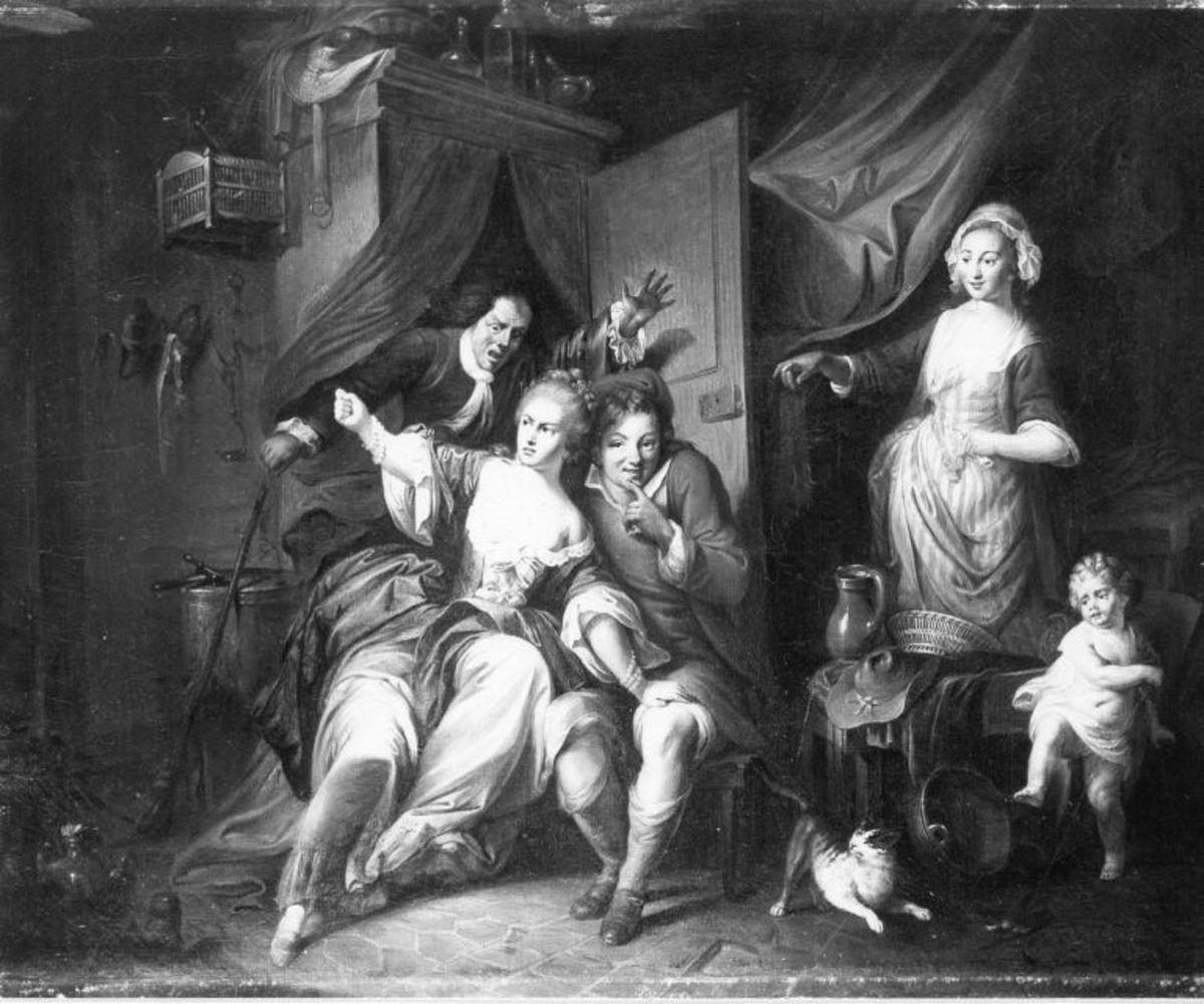 """Die Überraschungsszene aus der Oper """"Blaise le Savetier"""" von Philidor"""