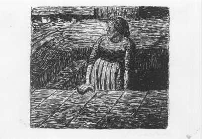 Der Tote Tag (Stehende Frau auf halber Kellertreppe).