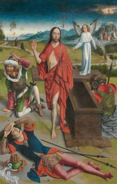 Tafel eines Flügelaltares: Die Auferstehung Christi