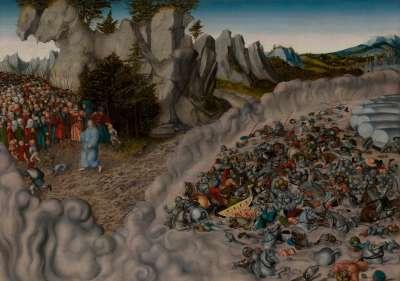 Zug der Israeliten durch das Rote Meer (Untergang des Pharao)