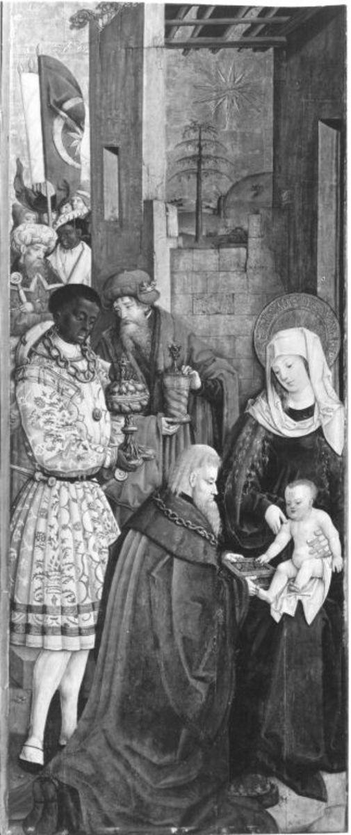 Flügel eines Altares: Anbetung der Könige Rückseite: Hll. Margarethe und Ursula