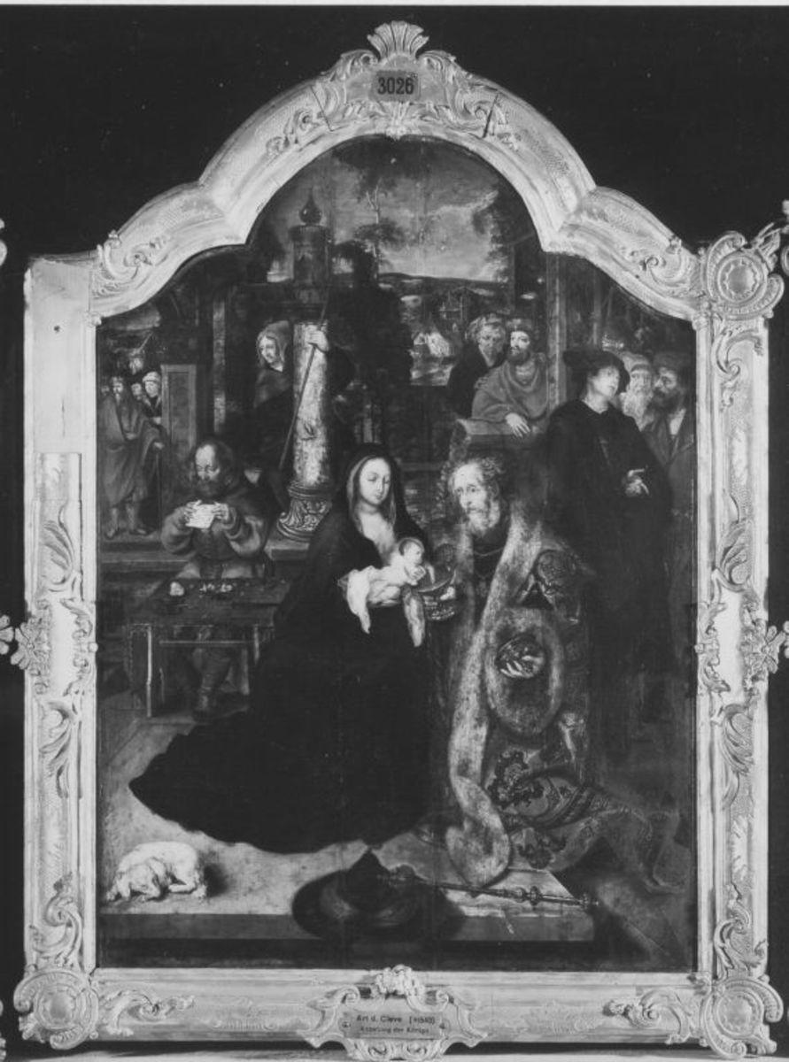 Anbetungstriptychon: Mitteltafel mit dem ältesten König
