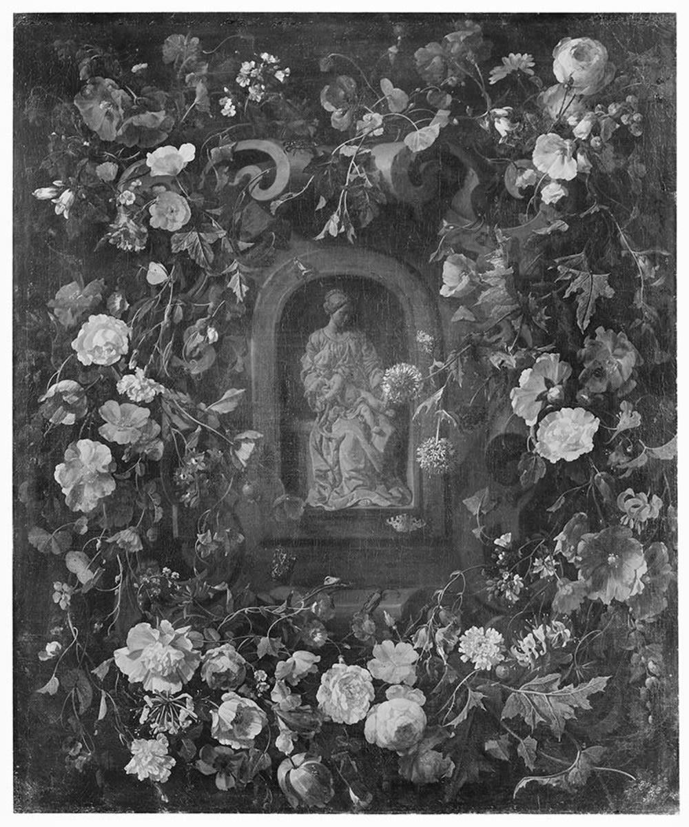 Madonna im Blumenkranz