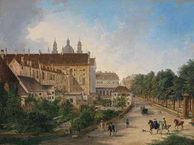 Die Nordseite der Königlichen Residenz im Jahr 1828