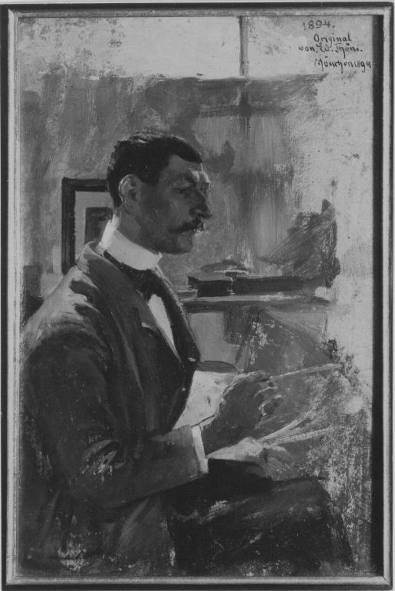 Der Maler Julius Schrag