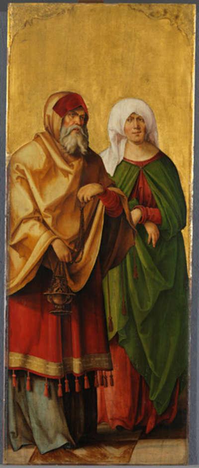Annenaltar: Die hll. Zacharias und Elisabeth