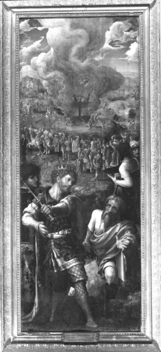 Drei Jünglinge im Feuerofen Rückseite: Jonas in der Kürbislaube