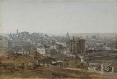 Blick von der Villa Malta auf das Kapitol