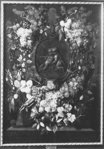 Früchtekranz mit dem Jesus- und Johannesknaben
