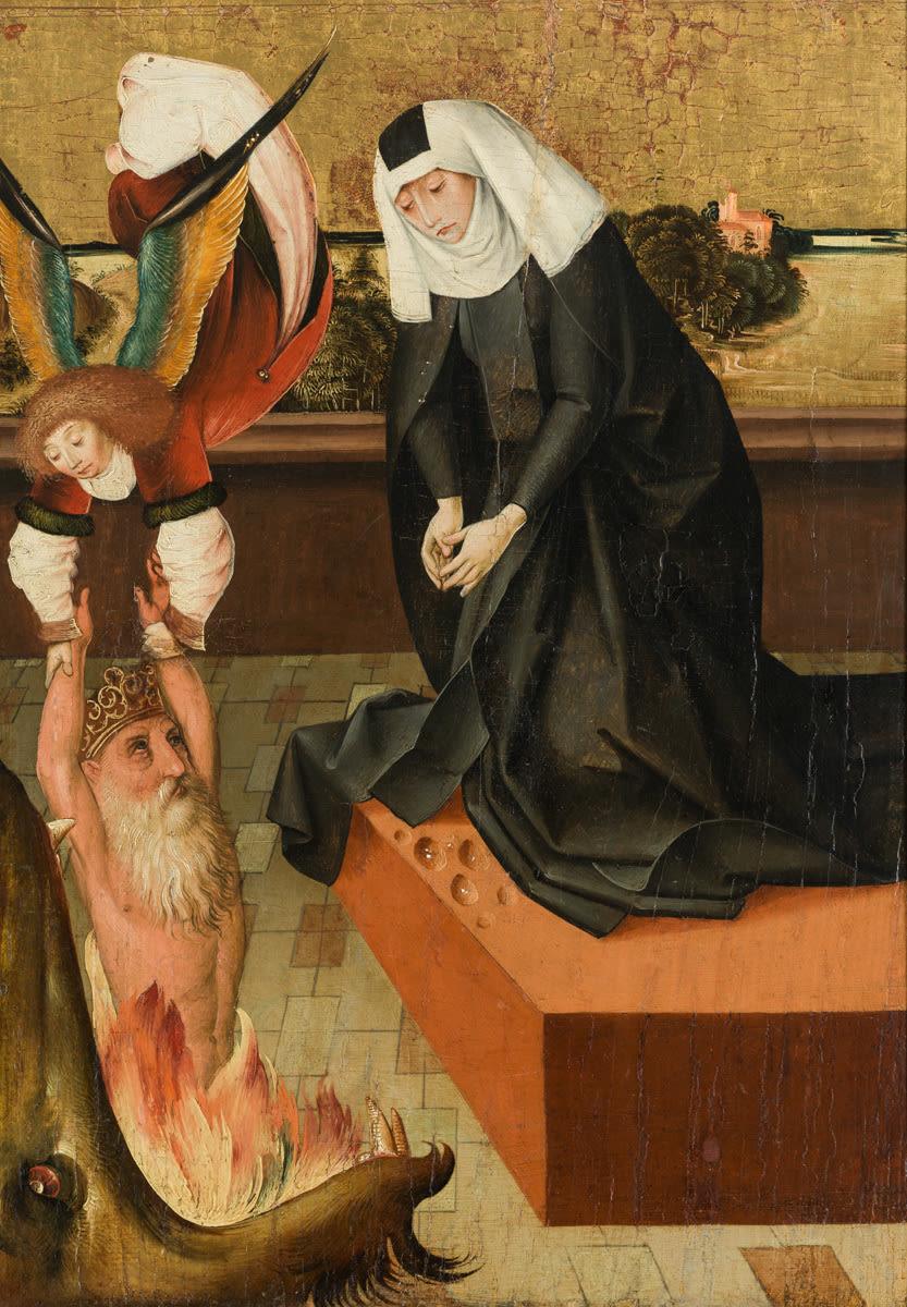 Ottilie rettet ihren Vater Attich durch ihr Gebet aus dem Fegefeuer