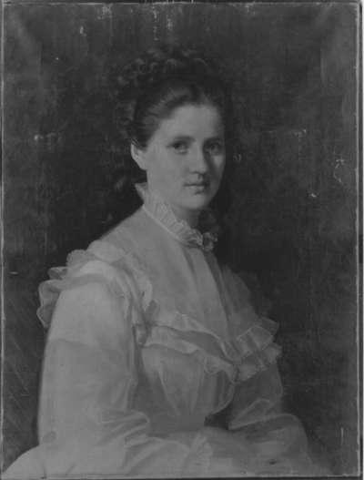 Bildnis einer jungen Frau in weißem Kleid
