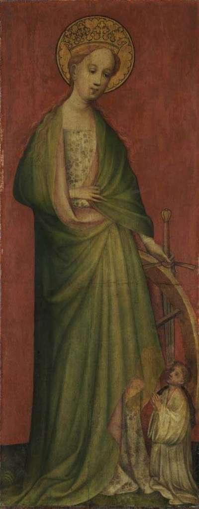 Hl. Katharina mit Stifter