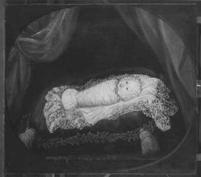Bildnis des Kurprinzen Karl Albrecht von Bayern als Wickelkind