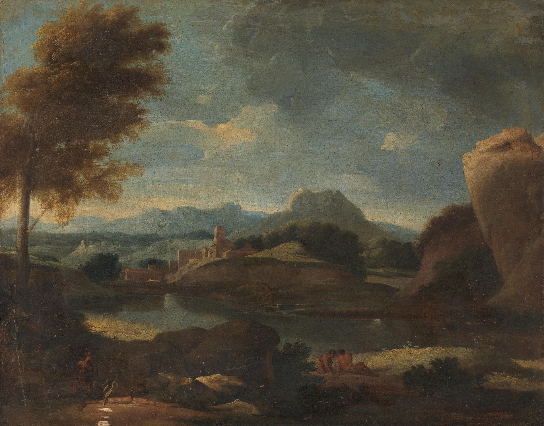Landschaft mit einem See