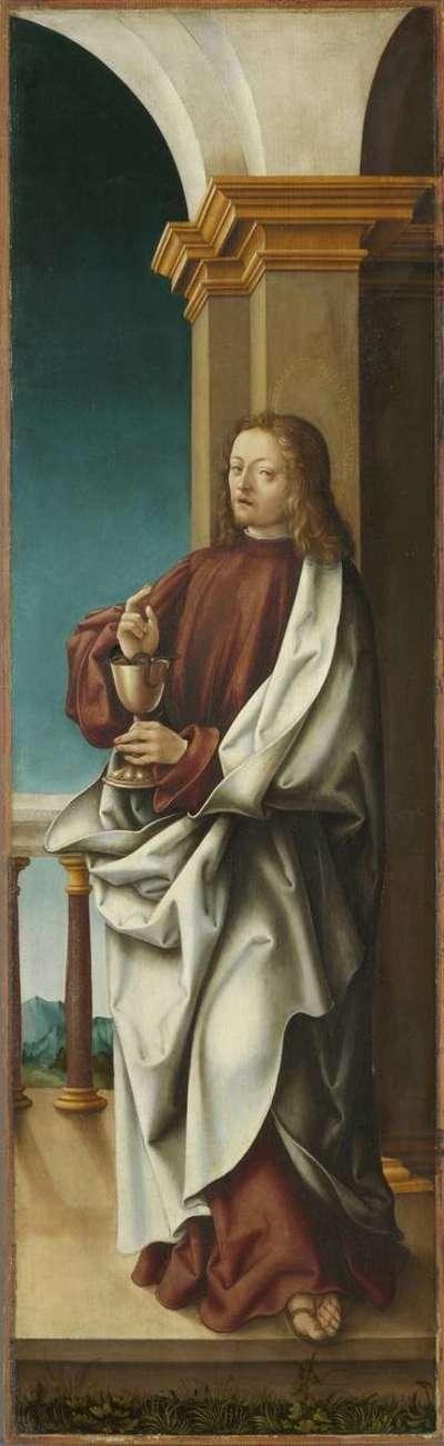 Johannesaltar, Flügelaußenseite: Hl. Johannes der Evangelist