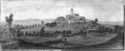 Ansicht von Schloss Strichenberg bei Eppingen