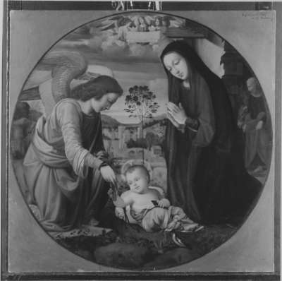 Anbetung des Kindes (nach Albertinelli)