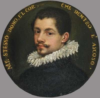 Bildnis eines jungen Mannes mit Knebelbart (Selbstbildnis?)