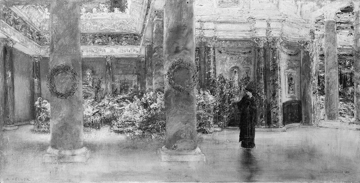 Kaiserin Faustina im Junotempel zu Praeneste