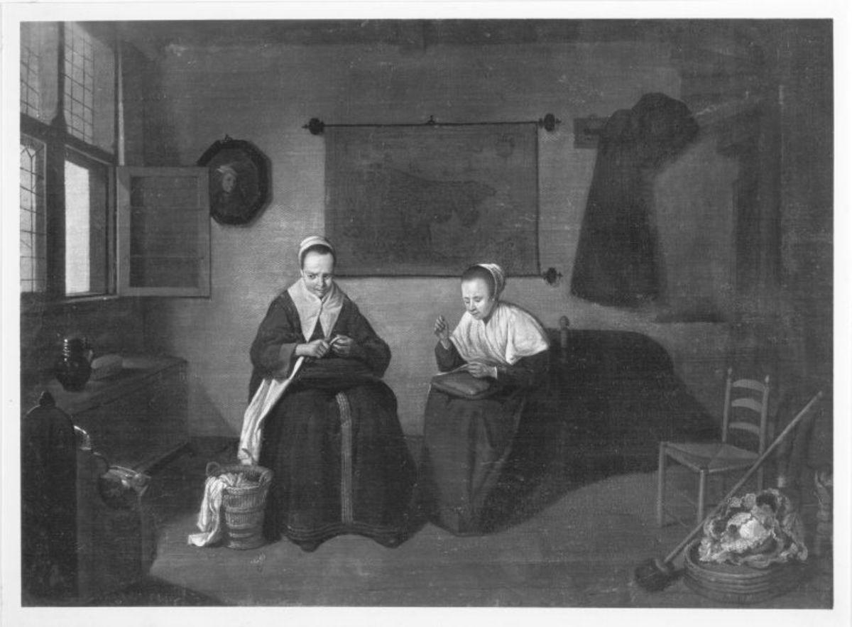 Die Weißzeugnäherinnen (nach Brekelenkam)