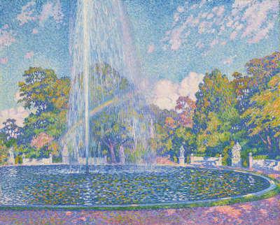 Springbrunnen im Park von Sanssouci bei Potsdam