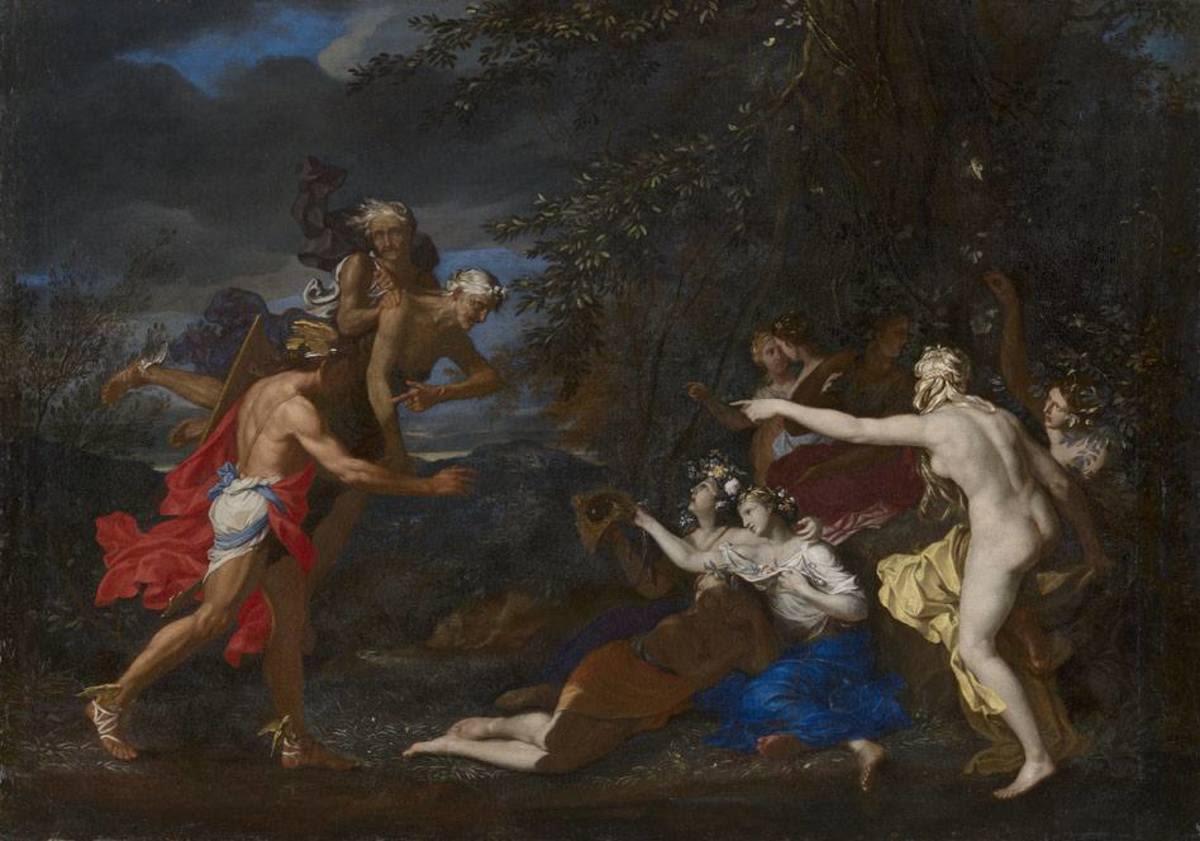Perseus bei den Nymphen