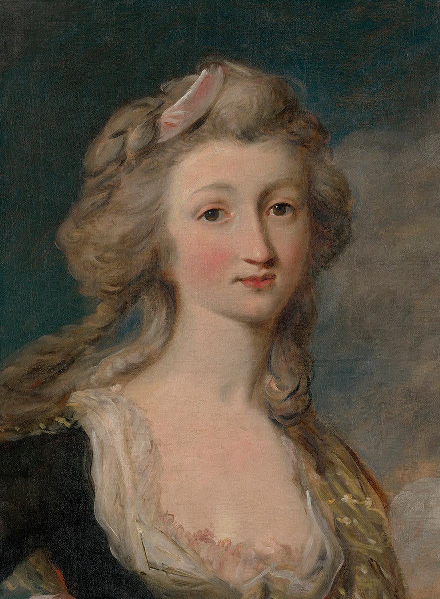 Josephine Langer, die Frau des Künstlers
