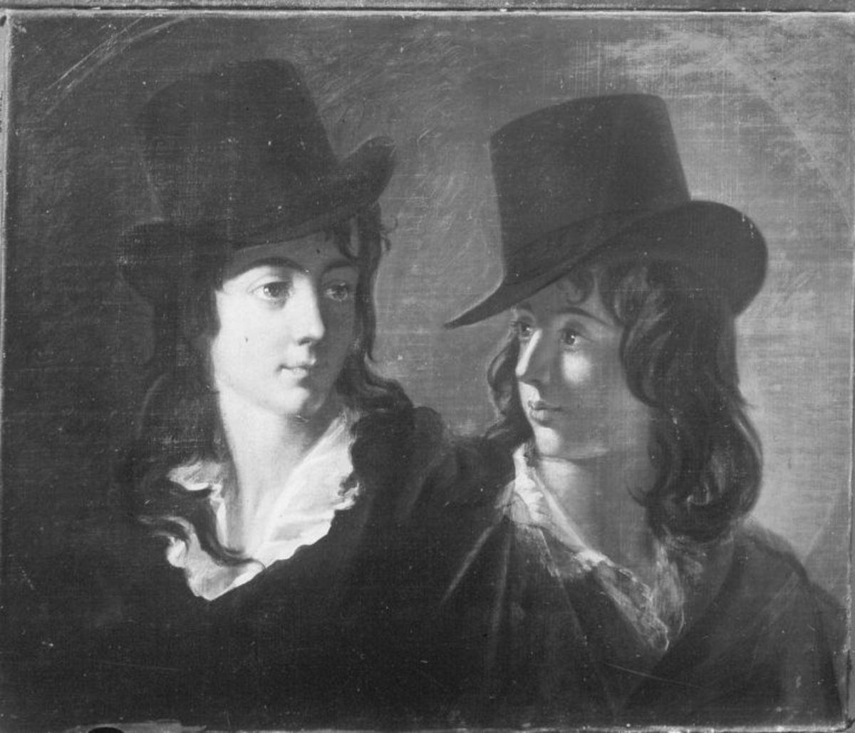 Zwei Söhne des spanischen Gesandten Nunez