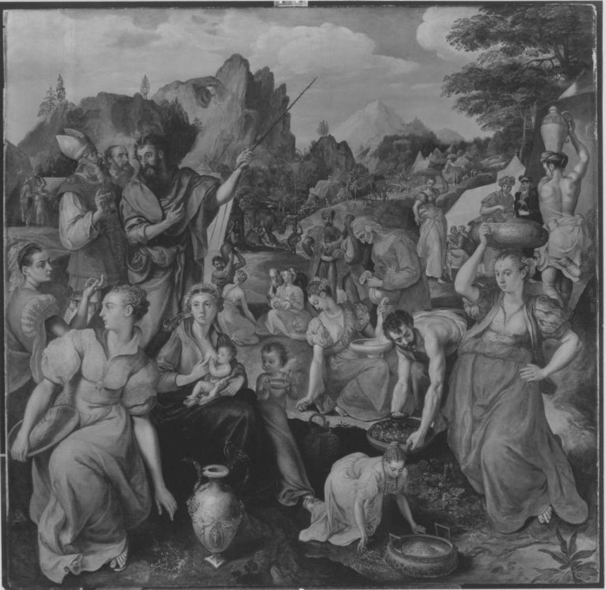 Die Israeliten sammeln das Manna