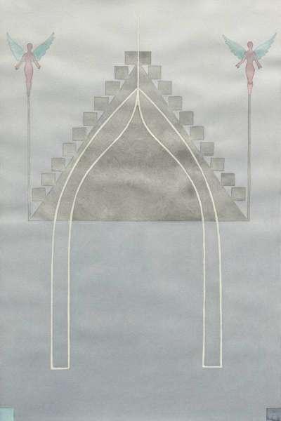 O.T. (Tempel) aus der Serie Aquarelle