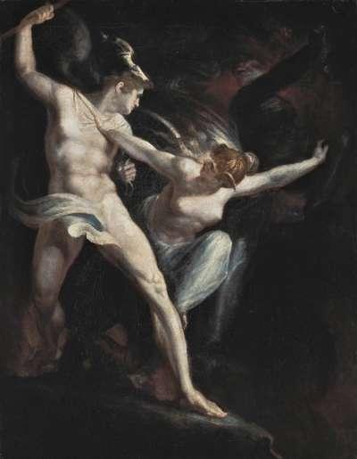Satan und Tod, von der Sünde getrennt