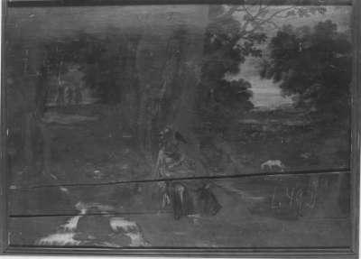 Landschaft mit Einsiedler