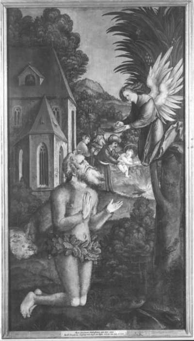 Christgartner Altar: Kommunion des hl. Onufrius