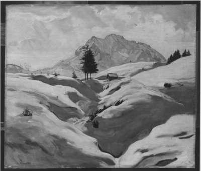 Das Wettersteinmassiv im Schnee