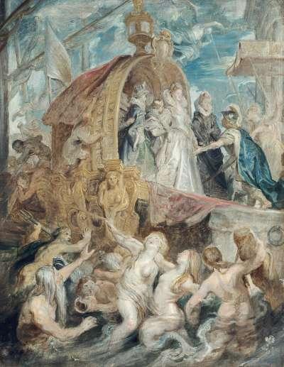 Die Landung in Marseille (Skizze zum Medici-Zyklus)