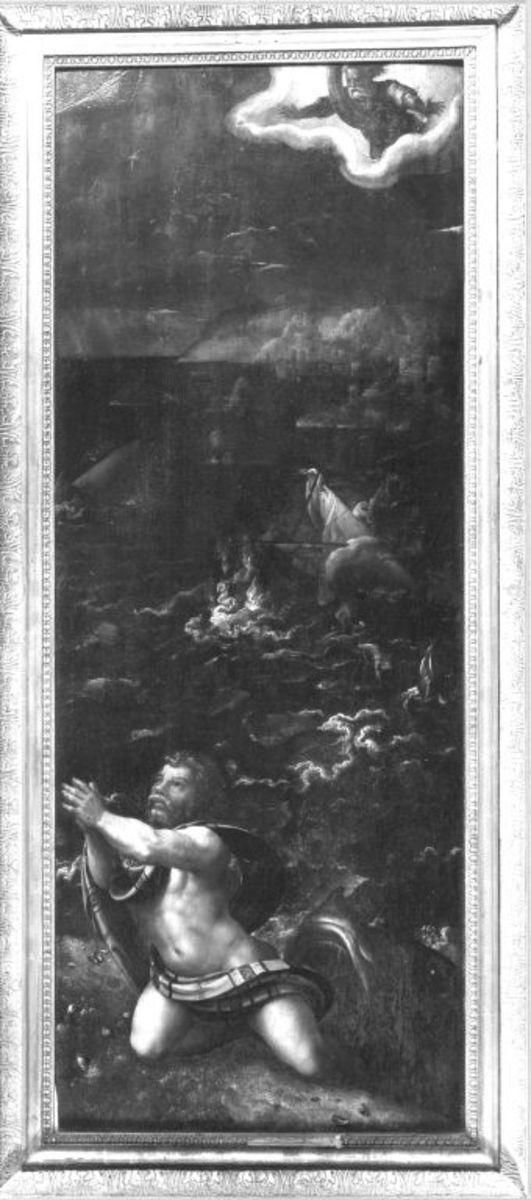 Jonas wird vom Seeungeheuer ausgespien Rückseite: Die büßenden Bewohner von Ninive