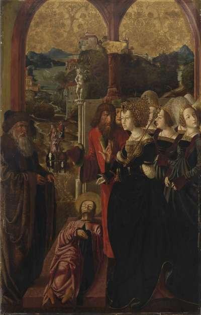 Jakobus-Stephanus-Altar: Der Leichnam des Jakobus wird vor Königin Lupa gebracht