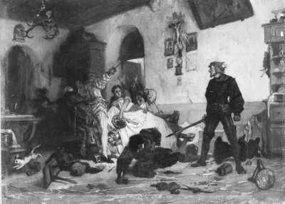 Ulrich von Hutten im Kampf mit französischen Edelleuten