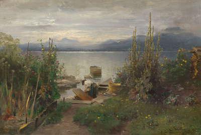Fischerboote bei Frauenchiemsee