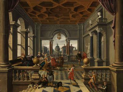 Lazarus im Palast des reichen Mannes
