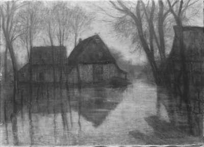 Hochwasser im Dorf