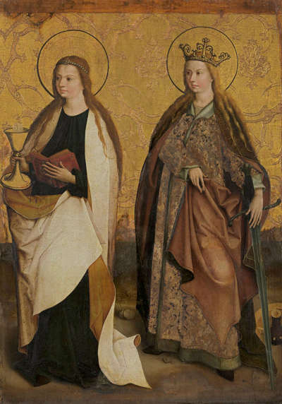 Altarflügel: Die hll. Barbara und Katharina