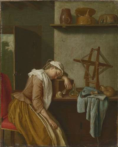 Schlafendes Küchenmädchen