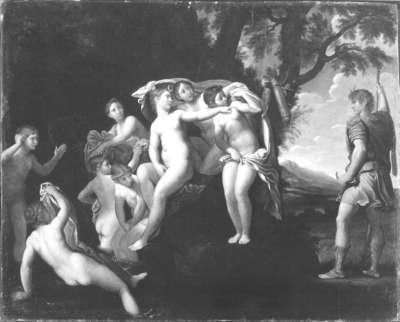Diana von Aktäon belauscht