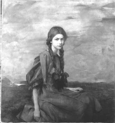 Jugendbildnis der Tänzerin Clothilde Sacharoff