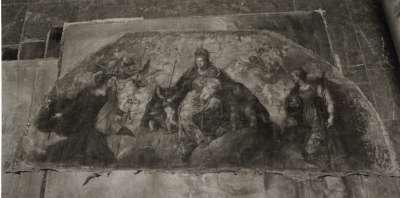 Maria mit Kind als Königin (Rundbogenbild)
