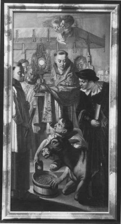 Der hl. Antonius von Padua mit dem Esel